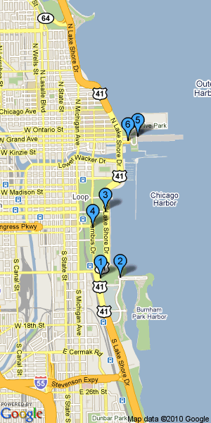 Chicago 2 Day Itinerary Map