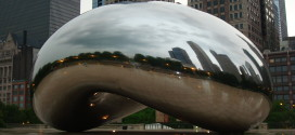 """Chicago Friday Photo: Cloud Gate – """"The Bean"""" in Millennium Park after Storm"""