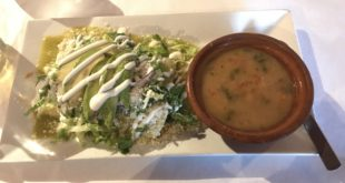 Verdes Con Frijoles De Olla Enchiladas at Mom's Old Recipe Mexican Restaurant
