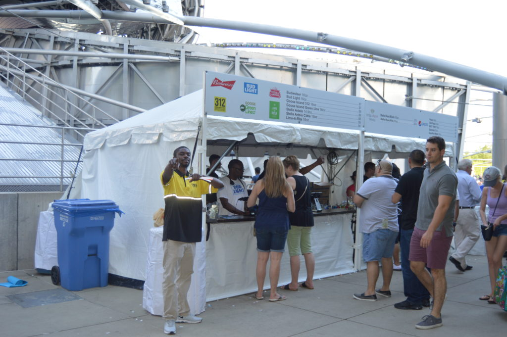 Beer Soft Drinks Booth at Chicago Blues Festival