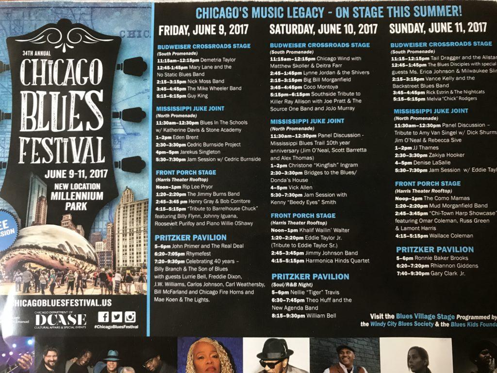 Chicago Blues Festival schedule