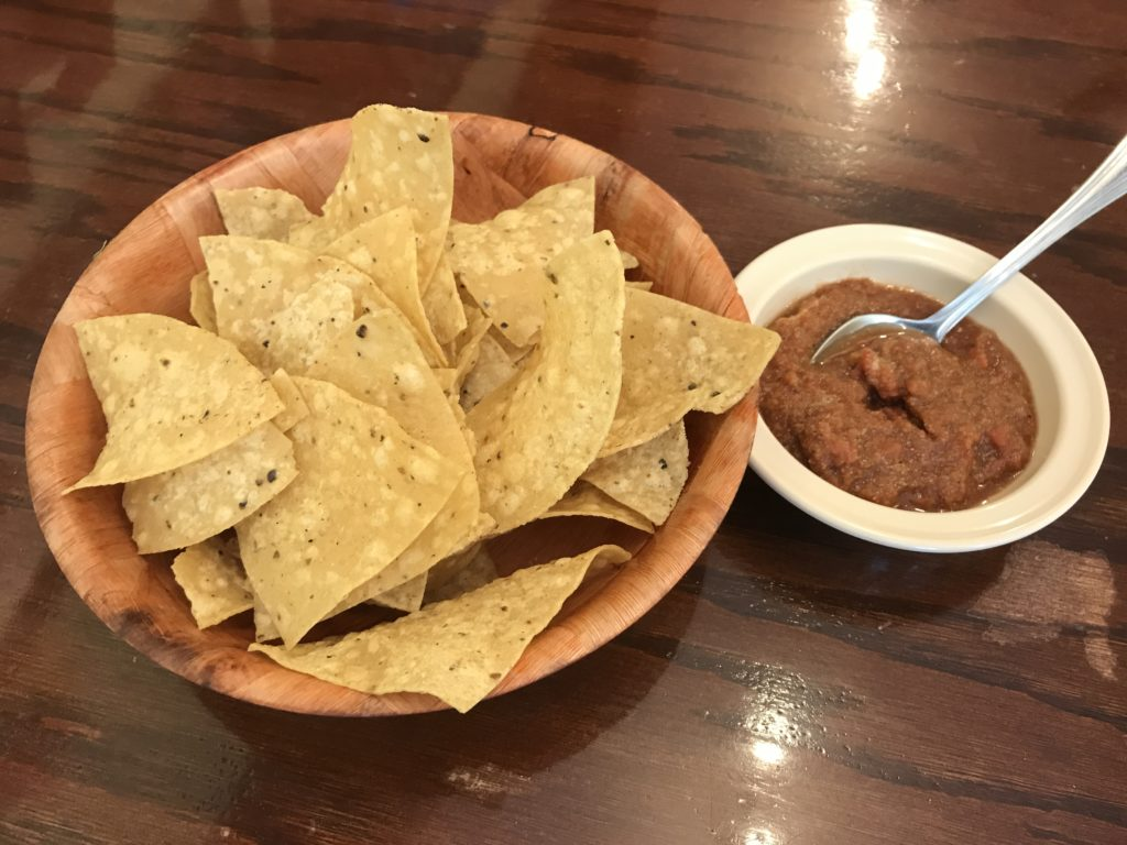 Chips and Salsa at Pueblo Nuevo Mexican Restaurant in Chicago