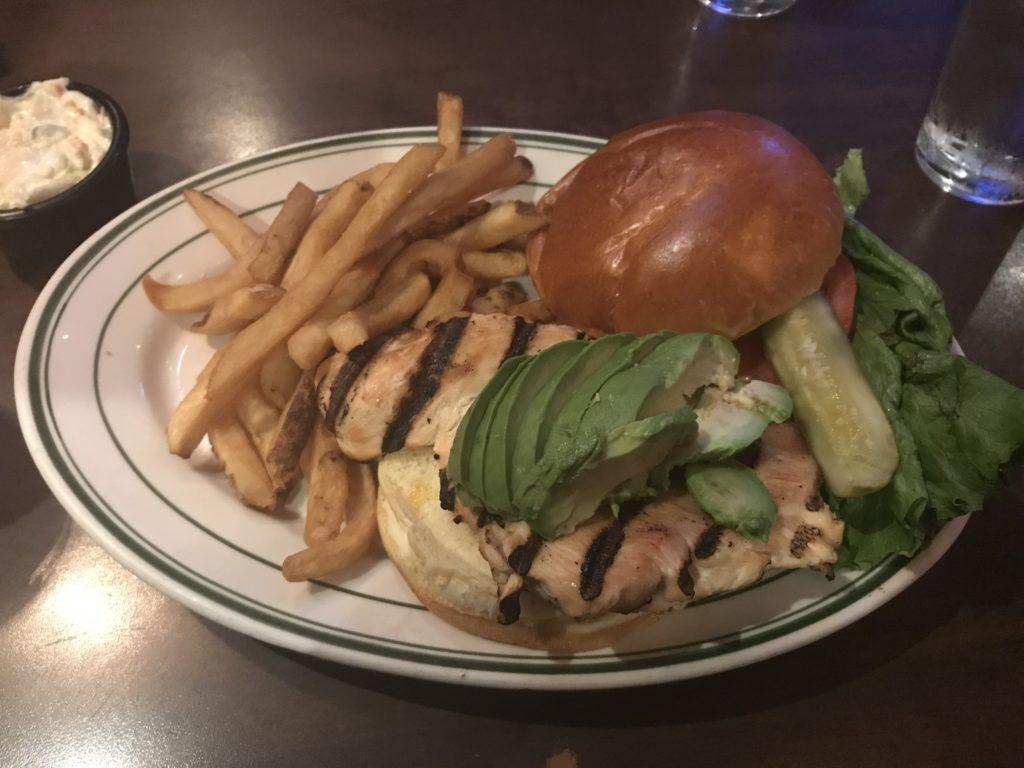 Grilled Chicken Sandwich at Miller's Pub Chicago
