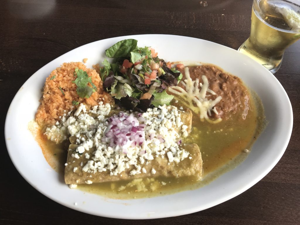 Enchiladas from Cafe El Tapatio Glenview