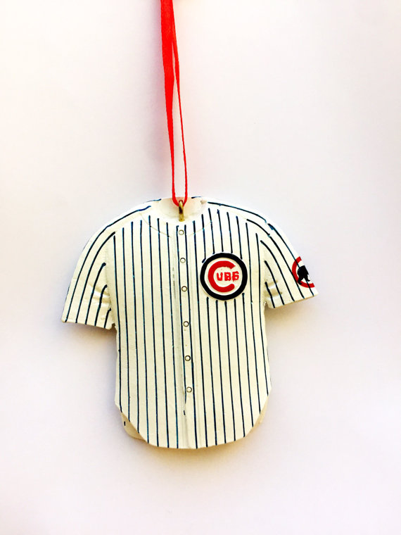Chicago Cubs Jersey Christmas ornament