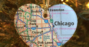 Chicago Map Christmas Ornament