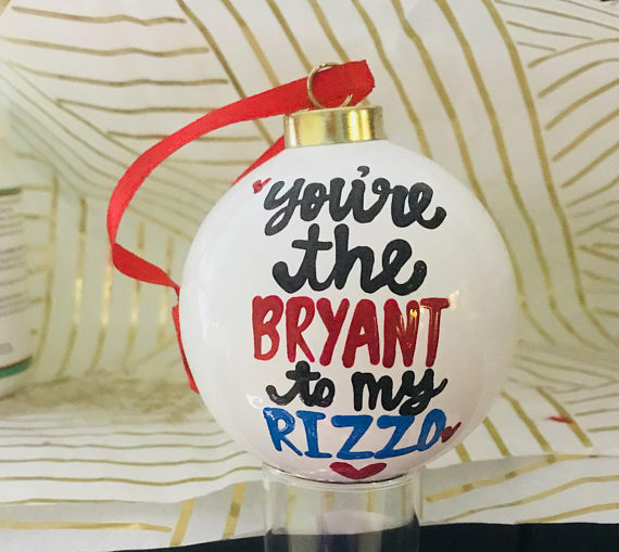 You're the Rizzo to my Bryant Chicago Cubs