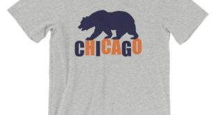 Windy City Bear Printed T-Shirt-Go-Visit-Chicago