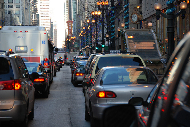 Getting around Chicago by car