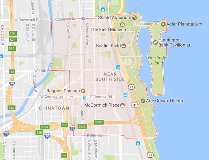 Hotels Near South SIde  in Downtown Chicago