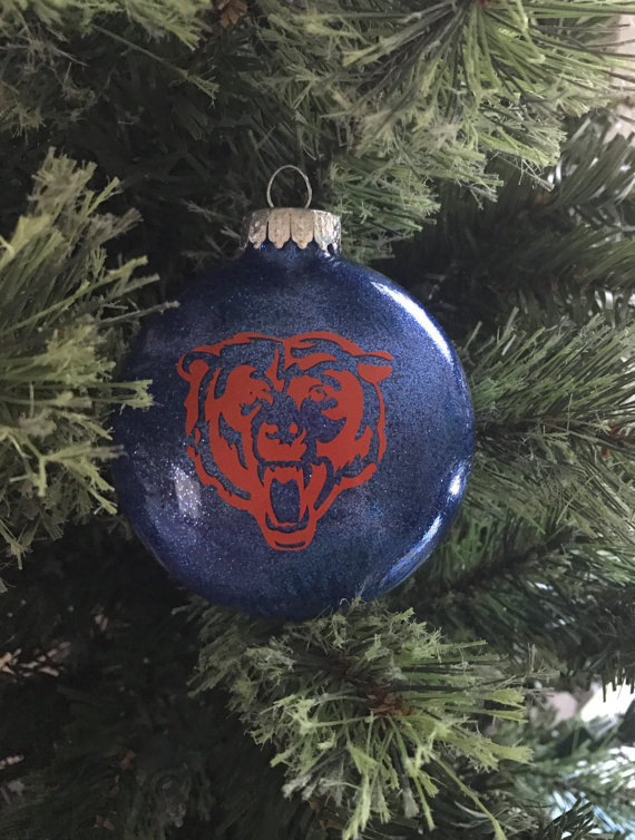 Chicago Bears Christmas Ornament - 10 Chicago Christmas Ornaments For Gifting - Go Visit Chicago