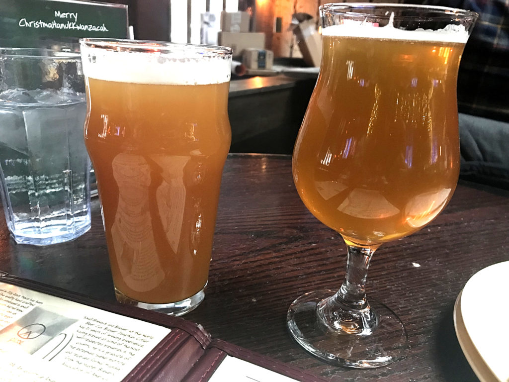 Roadhouse and The Weight Hand Crafted Beers at Piece Brewery and Pizzeria Chicago