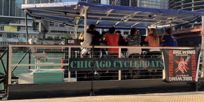 Chicago Cycleboat Tour on the Chicago Riverwalk
