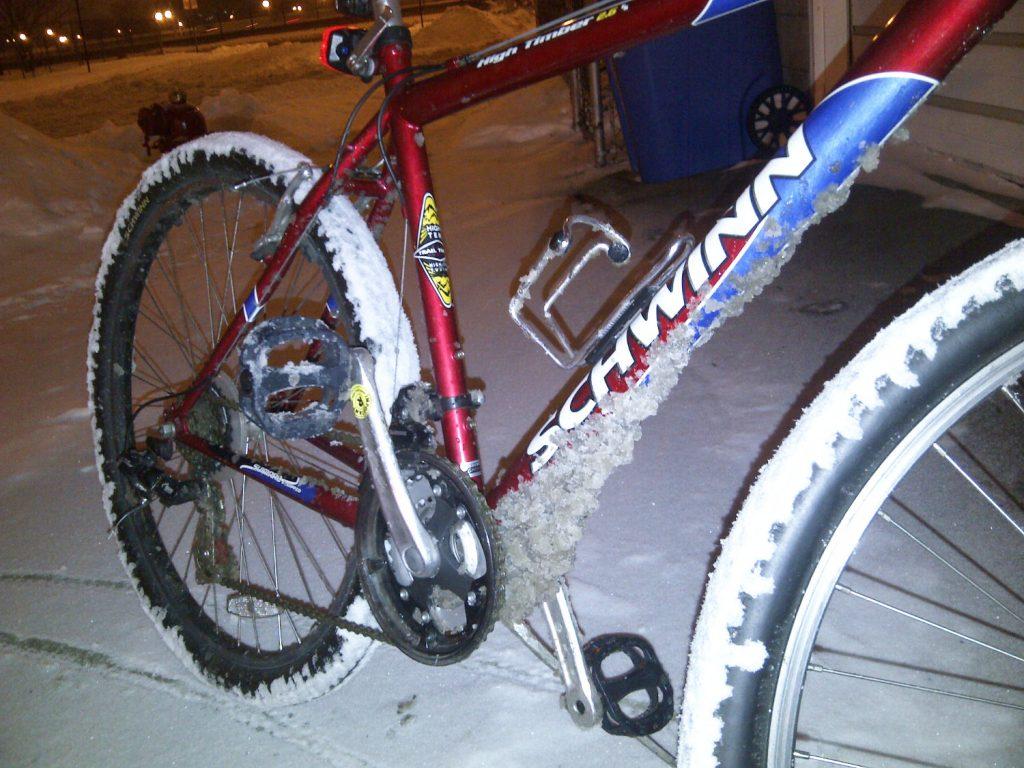 winter biking in Chicago